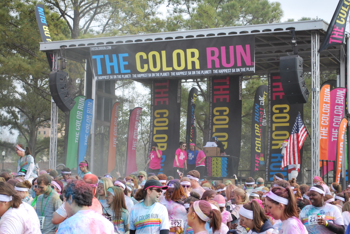 The Color Run festival on mobile stage