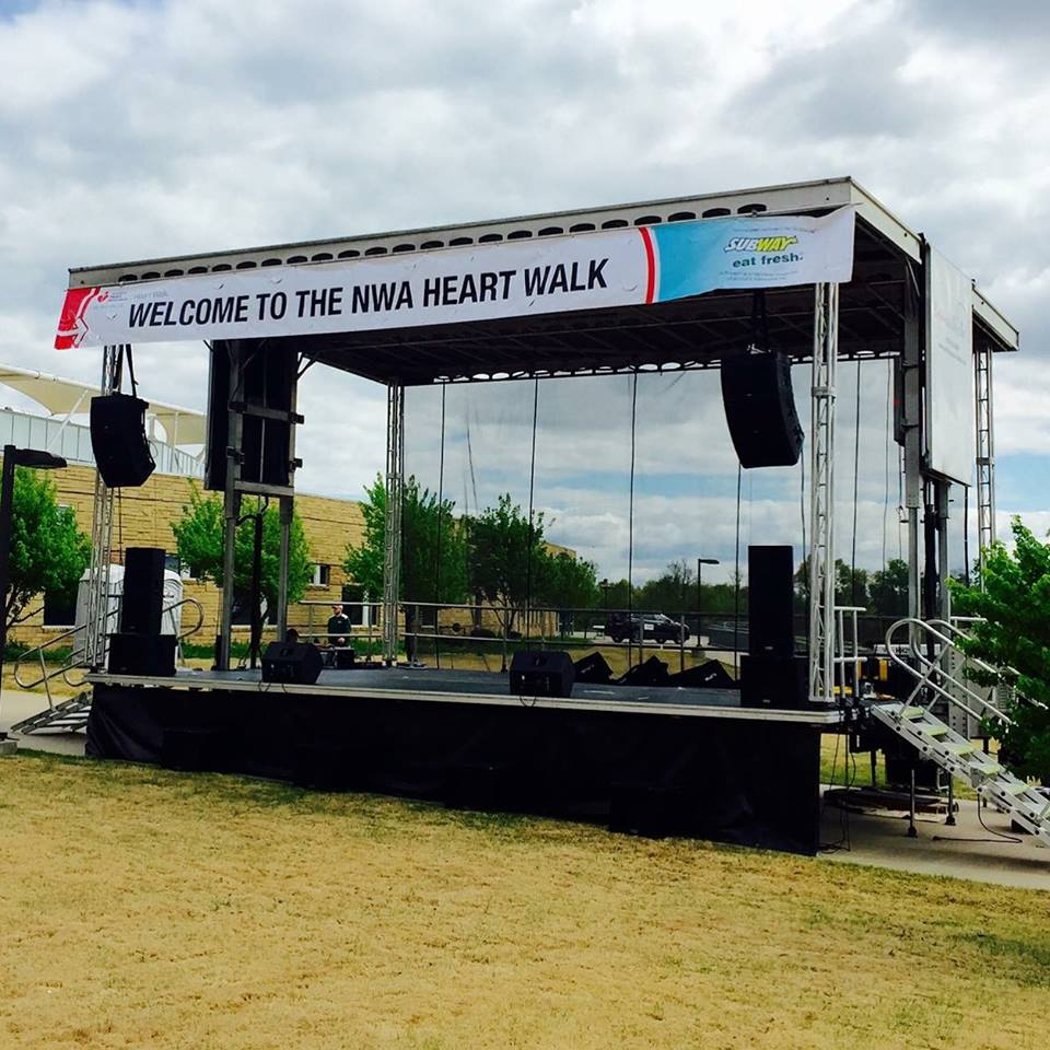 Mobile stage at Northwest Arkansas Heart Walk